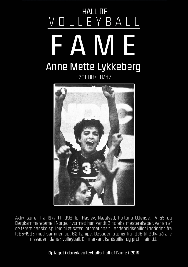 Hall of Fame: Anne Mette Lykkeberg